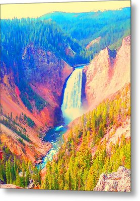 Grand Canyon Of The Yellowstone Metal Print by Ann Johndro-Collins