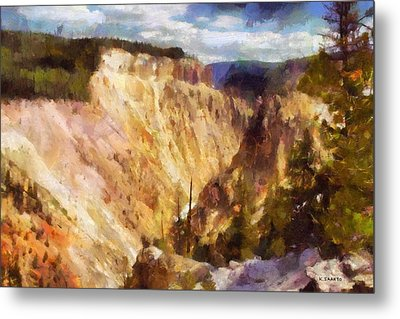Metal Print featuring the painting Grand Canyon Of Yellowstone 2 by Kai Saarto