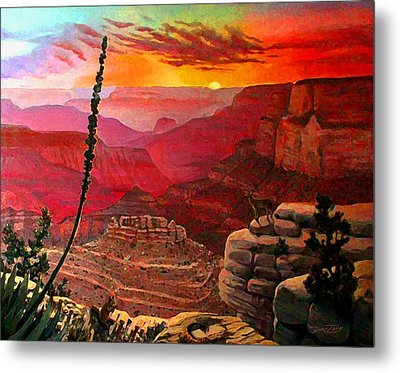 Grand Canyon Sunset Metal Print by Dan Terry