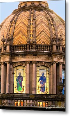 Metal Print featuring the photograph Grand Cathedral Of Guadalajara by David Perry Lawrence