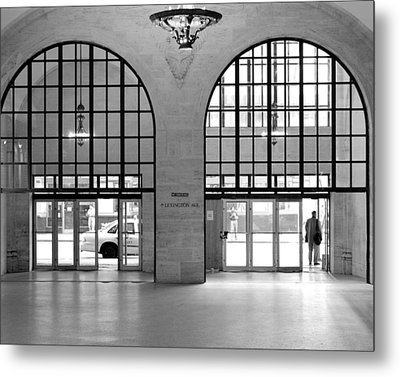 Grand Central Arches Entrance Metal Print by Dave Beckerman