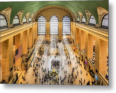 Grand Central Terminal Birds Eye View I Metal Print