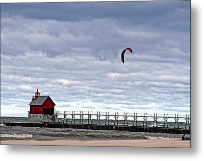 Grand Haven Lighthouse 2 Metal Print by Cheryl Cencich