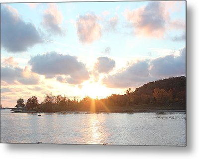 Grand Haven Sunset Metal Print by Bill Woodstock