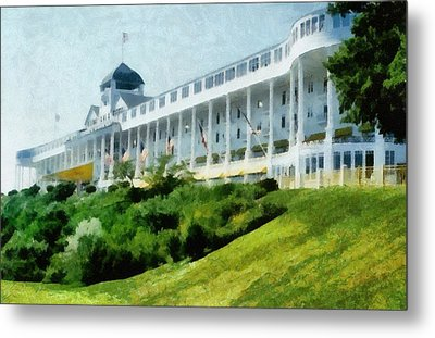 Grand Hotel Mackinac Island Ll Metal Print by Michelle Calkins