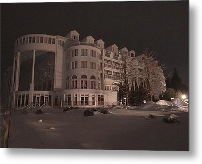 Grand Hotel On A Winter Night Metal Print by Keith Stokes