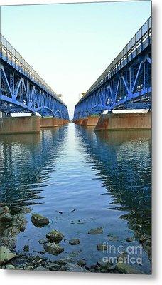 Grand Island Bridges Metal Print by Kathleen Struckle