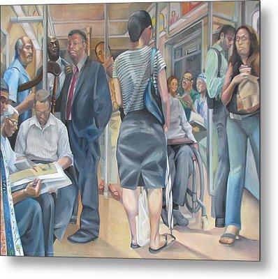 Grand Manner Subway No2 Metal Print by Julie Orsini Shakher