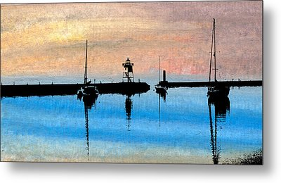 Grand Marais Harbor Metal Print