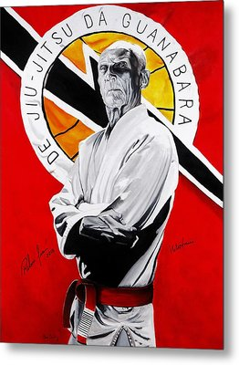 Grand Master Helio Gracie Metal Print by Brian Broadway