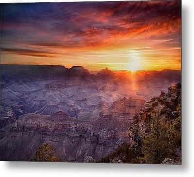 Grand Morning At The Canyon Metal Print by Andrew Soundarajan