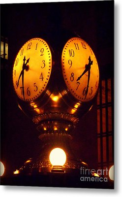 Grand Old Clock - Grand Central Station New York Metal Print by Miriam Danar