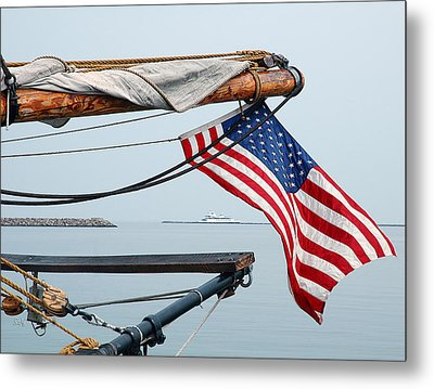 Metal Print featuring the photograph Grand Old Flag by Sami Martin