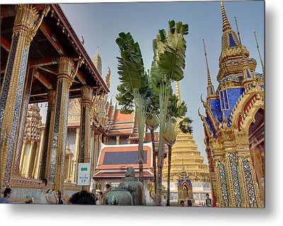 Grand Palace In Bangkok Thailand - 011333 Metal Print by DC Photographer