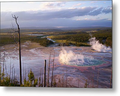 Metal Print featuring the photograph Grand Prismatic At Dusk by Jon Emery