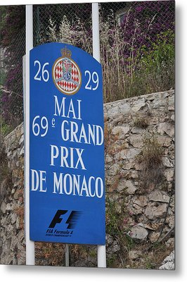 Grand Prix Sign Metal Print by Teresa Tilley
