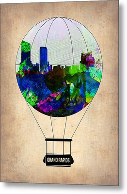 Grand Rapids Air Balloon Metal Print by Naxart Studio