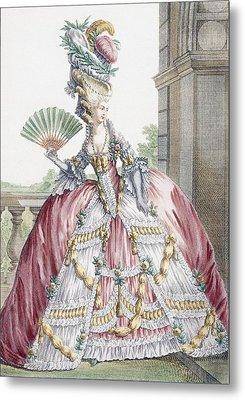 Grand Robe A La Francais, Engraved Metal Print