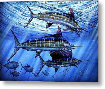 Grand Slam Lure And Tuna Metal Print by Terry Fox