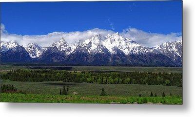 Grand Teton National Park Panorama Metal Print by Dan Sproul