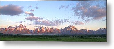 Grand Teton Sunrise Panorama Metal Print by Brian Harig