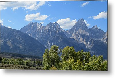 Grand Tetons Metal Print by Diane Mitchell