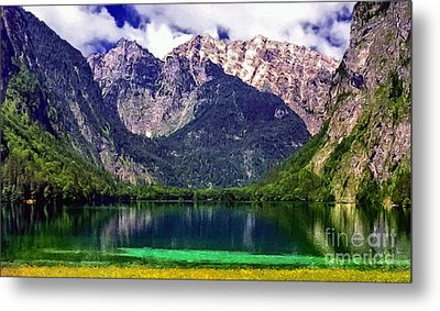 Grand Tetons National Park Painting Metal Print by Bob and Nadine Johnston