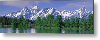 Grand Tetons National Park Wy Metal Print by Panoramic Images