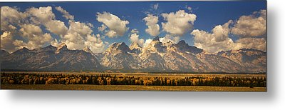 Metal Print featuring the photograph Grand Tetons by Sonya Lang