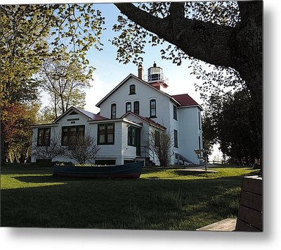 Grand Traverse Lighthouse Metal Print by Keith Stokes