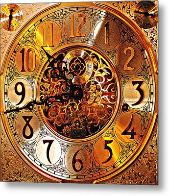 Grandfather Time Hdr Metal Print by Frozen in Time Fine Art Photography
