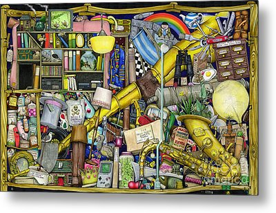 Grandfather's Chest Metal Print by Colin Thompson
