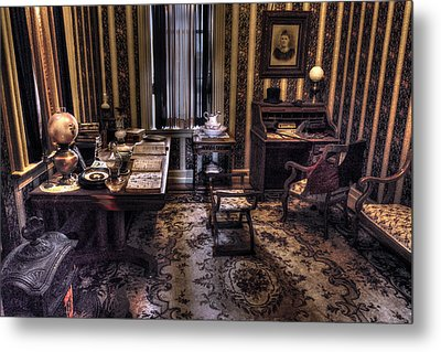 Grandfather's Office Metal Print by William Fields