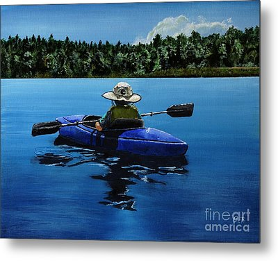Metal Print featuring the painting Grandma's Cabin by Chad Berglund