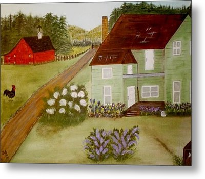 Grandmas Farm Metal Print by Cindy Micklos