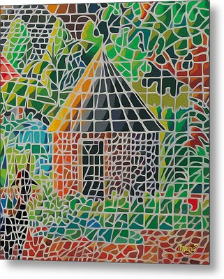 Grandma's House Metal Print by Anthony Mwangi