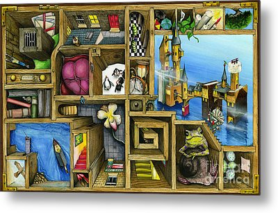 Grandma's Treasure Metal Print by Colin Thompson