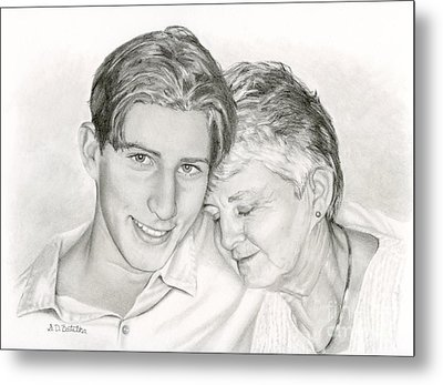 Grandmother And Grandson Metal Print by Sarah Batalka