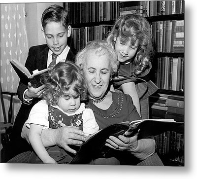 Grandmother Is Back At School Metal Print by Underwood Archives