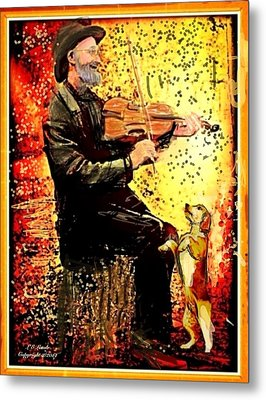 The Music Lover. Metal Print by Larry Lamb