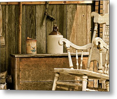 Grandpa's Front Porch Metal Print by Penny Meyers