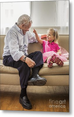 Grandpa's Little Princess Metal Print by Diane Diederich
