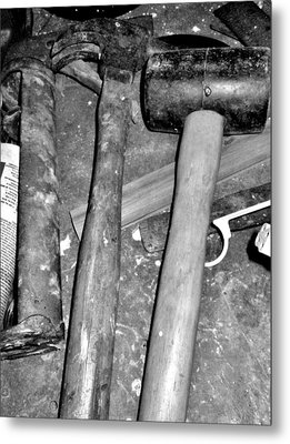 Grandpa's Tools Metal Print