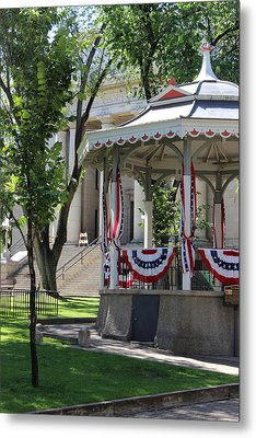 Metal Print featuring the photograph Grandstand Patriotism  by Natalie Ortiz