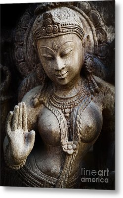 Granite Indian Goddess Metal Print