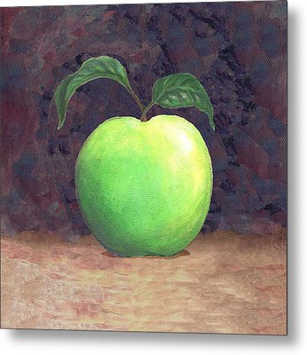 Granny Smith Apple Two Metal Print by Linda Mears