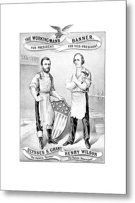 Grant And Wilson 1872 Election Poster  Metal Print by War Is Hell Store