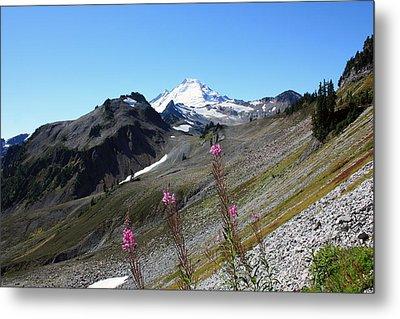 Grant Peak Of Mount Baker Metal Print