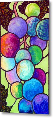 Metal Print featuring the painting Grape De Chine by Sandi Whetzel