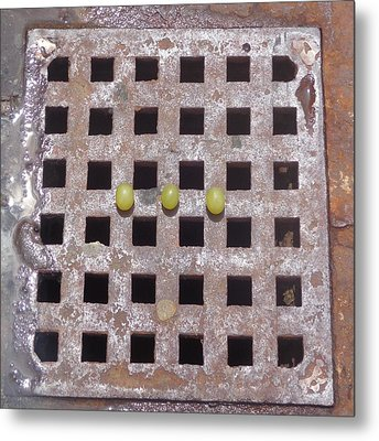 Grape N Grate Still-life Metal Print by Christina Verdgeline